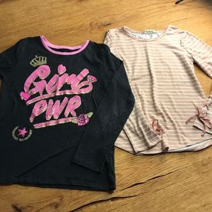 Other - 2 girls long sleeve t-shirts size 7